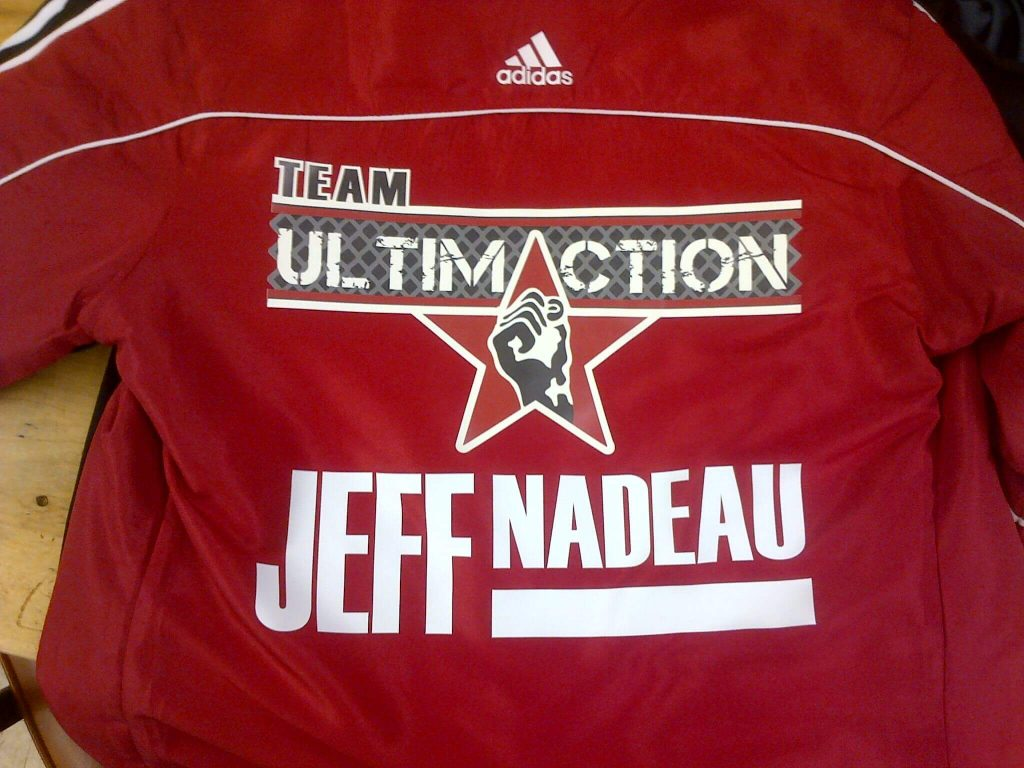 transfert chaud impression vêtement jacket chalamode drummondville