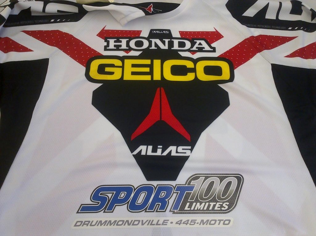 transfert chaud impression jersey motocross chalamode drummondville