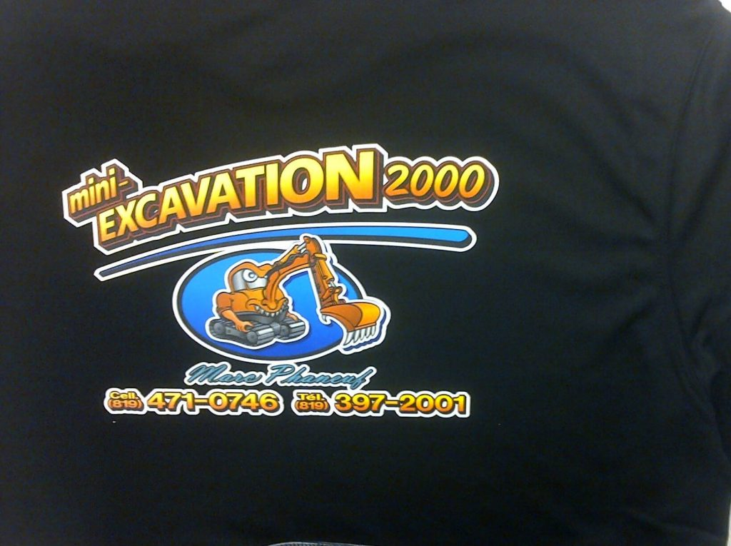 transfert chaud impression vêtement t-shirt chalamode drummondville