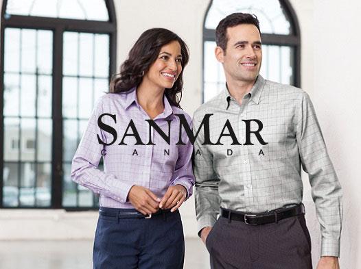 vetement corporatif chalamode distributeur fournisseur chemise sanmar drummondville